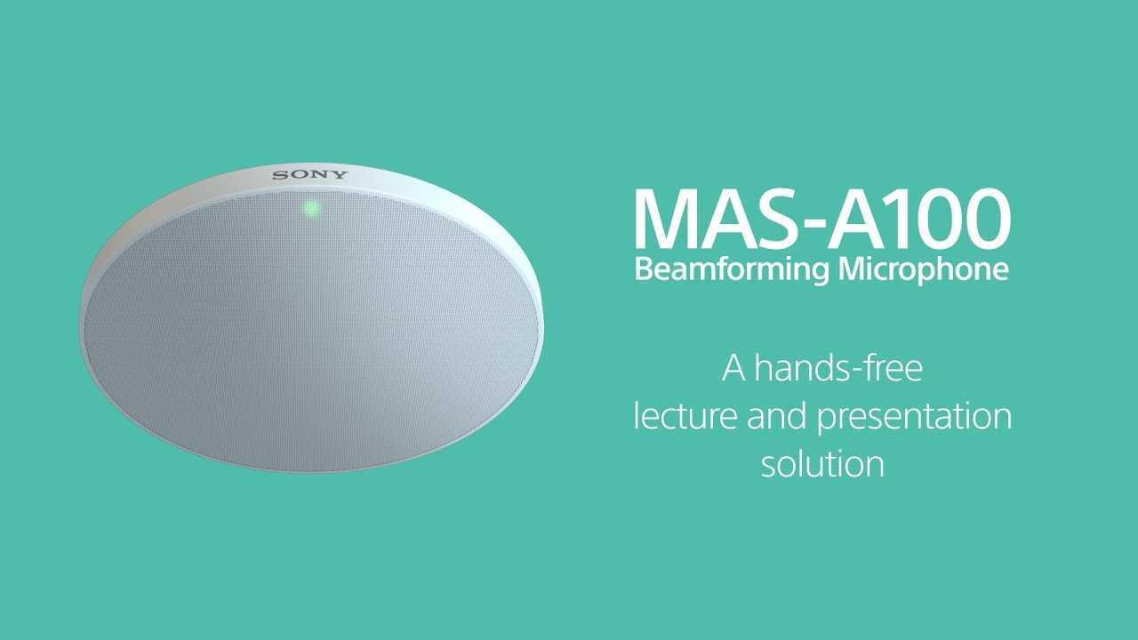 Sony MAS-A100: il microfono per beamforming da soffitto