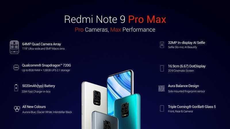 Redmi Note 9 Pro e Pro Max: specifiche, prezzo, uscita