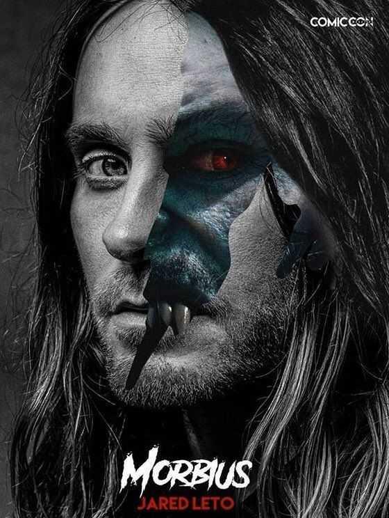 Morbius: il poster con la doppia identità di Jared Leto
