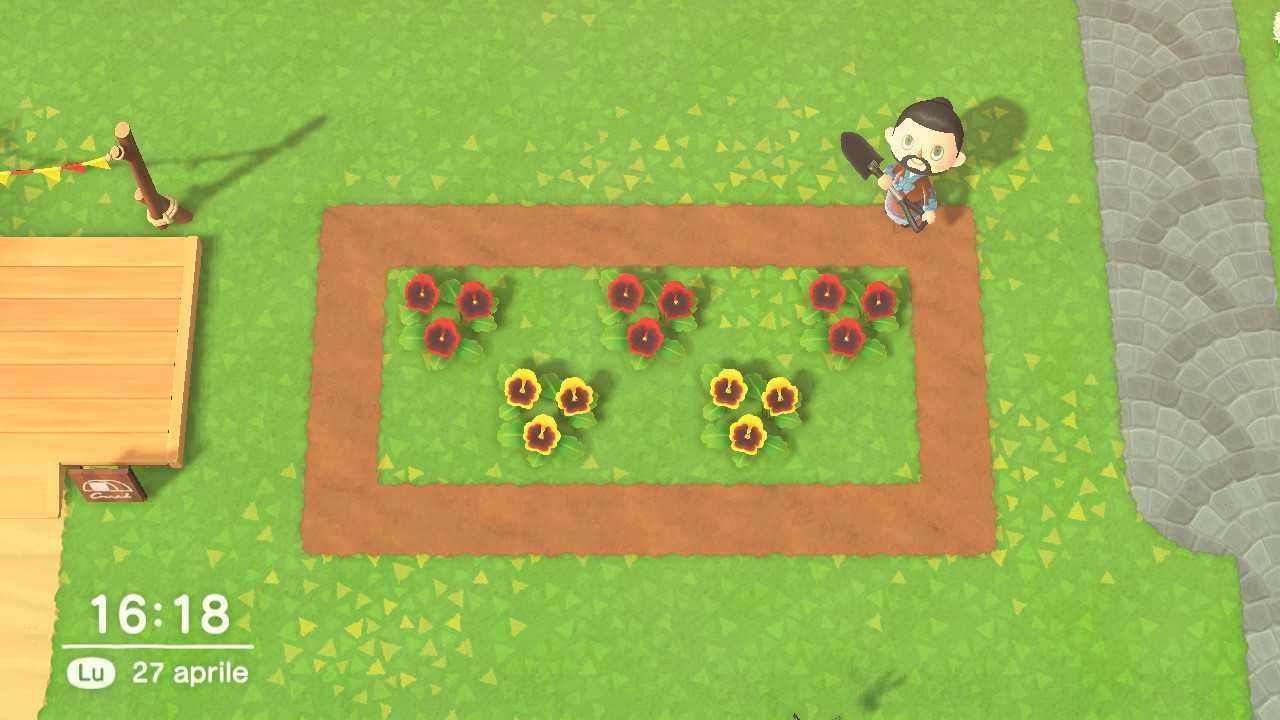 Animal Crossing: New Horizons, crescere fiori ibridi e colorati