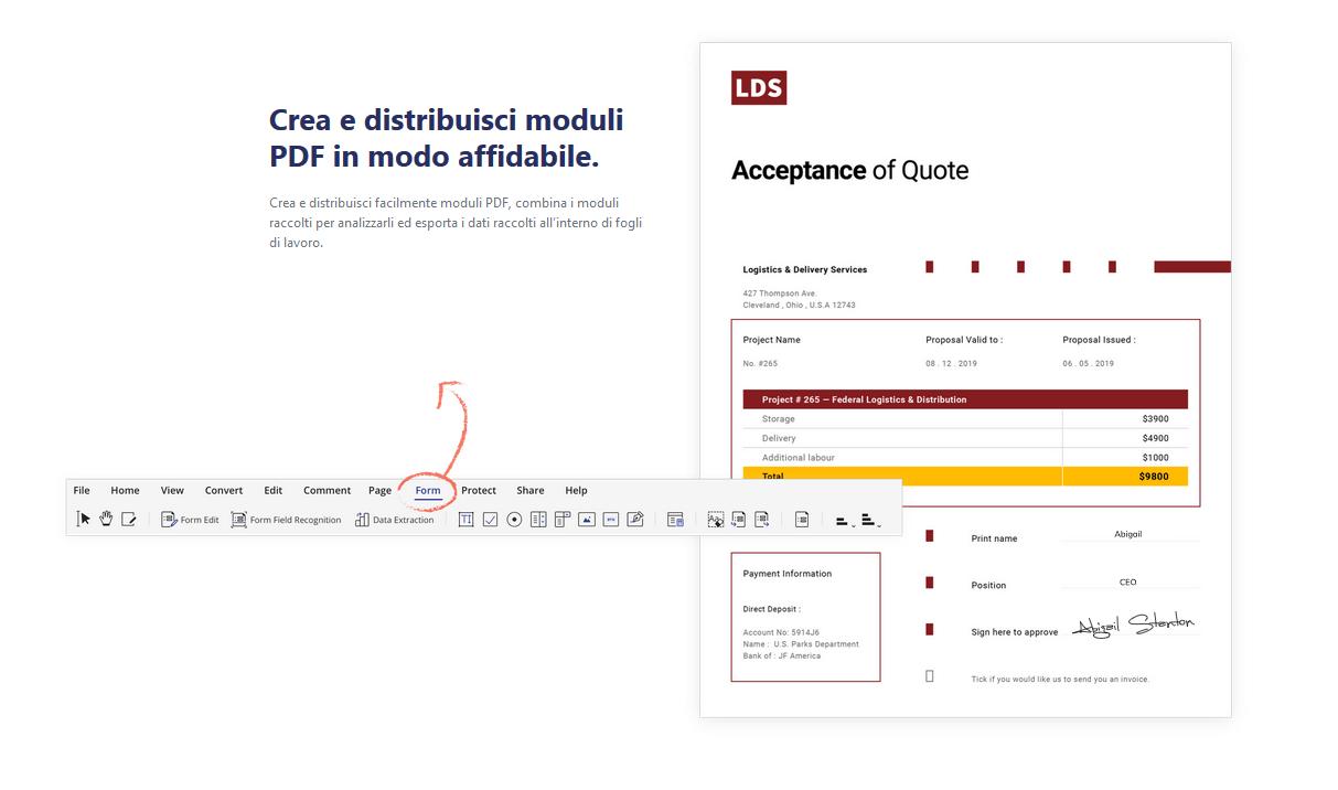 PDFelement: crea e modifica PDF come con Adobe Acrobat DC
