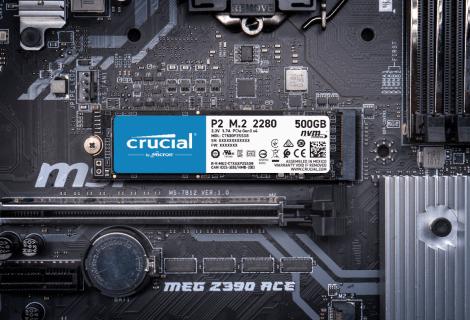 Crucial P5 e P2: nuovi SSD NVMe fino a 2 TB di storage!