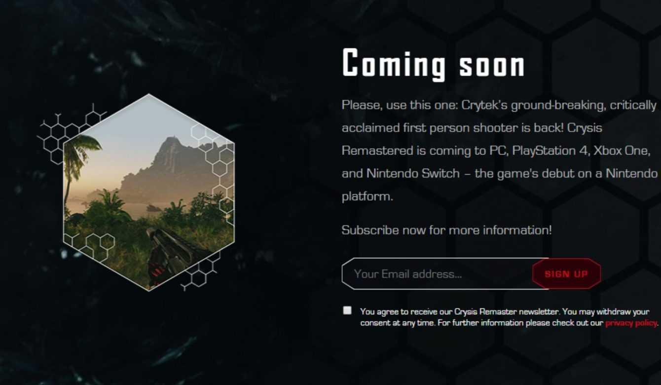 Crysis Remastered è praticamente ufficiale, anche per Switch!
