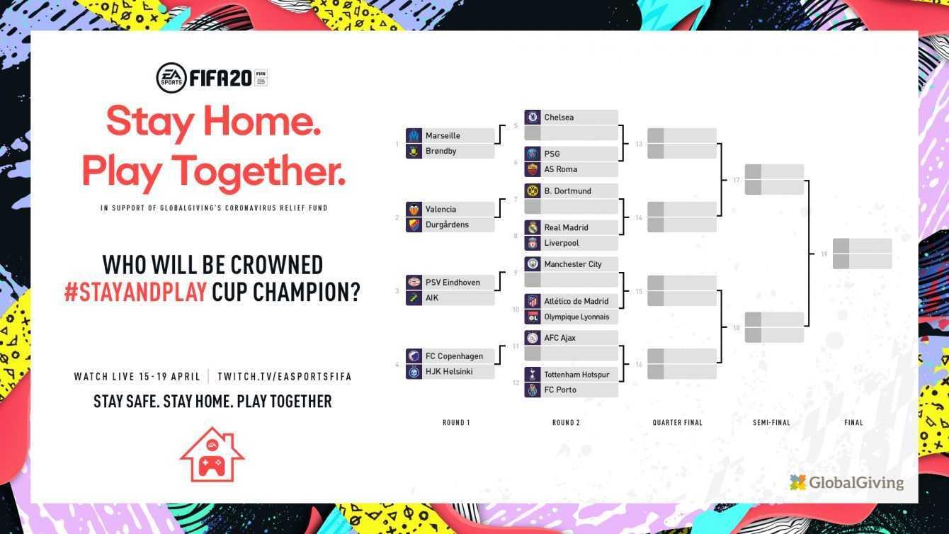 FIFA 20 Stay and Play Cup: i dettagli e dove seguire l'evento