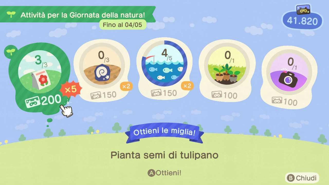 Animal Crossing: New Horizons, guida alla Giornata della natura