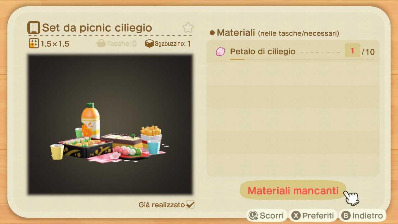 Animal Crossing: New Horizons, tutti i progetti dei petali di ciliegio