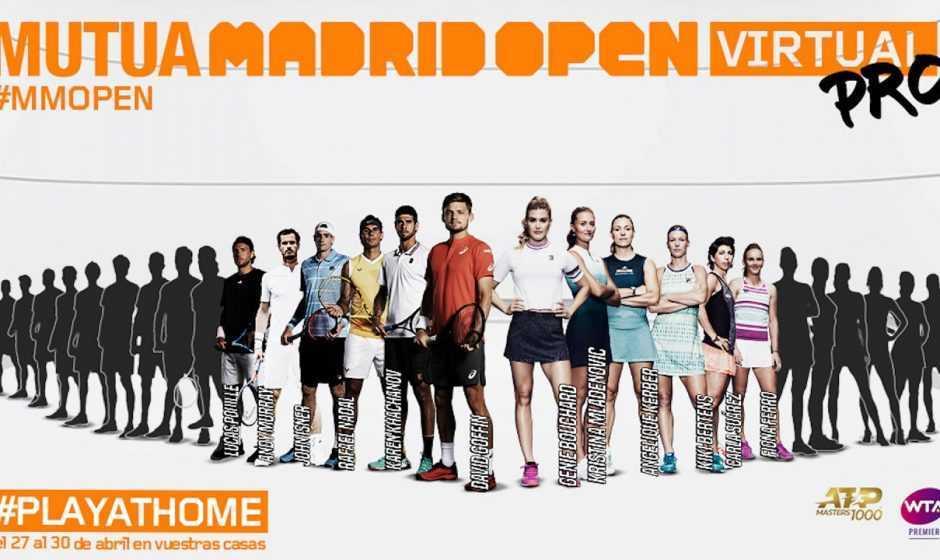 Madrid Open Virtual Pro: il coronavirus non ferma il tennis
