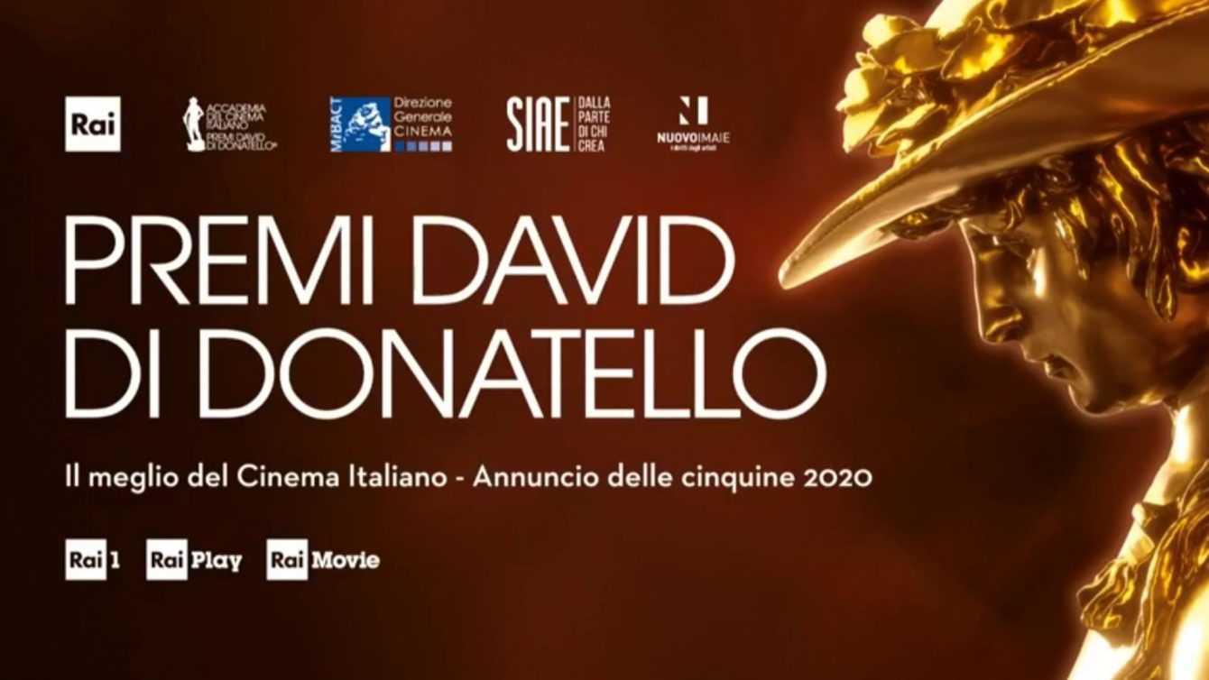 David di Donatello 2020: saranno trasmessi l'8 maggio su Rai 1