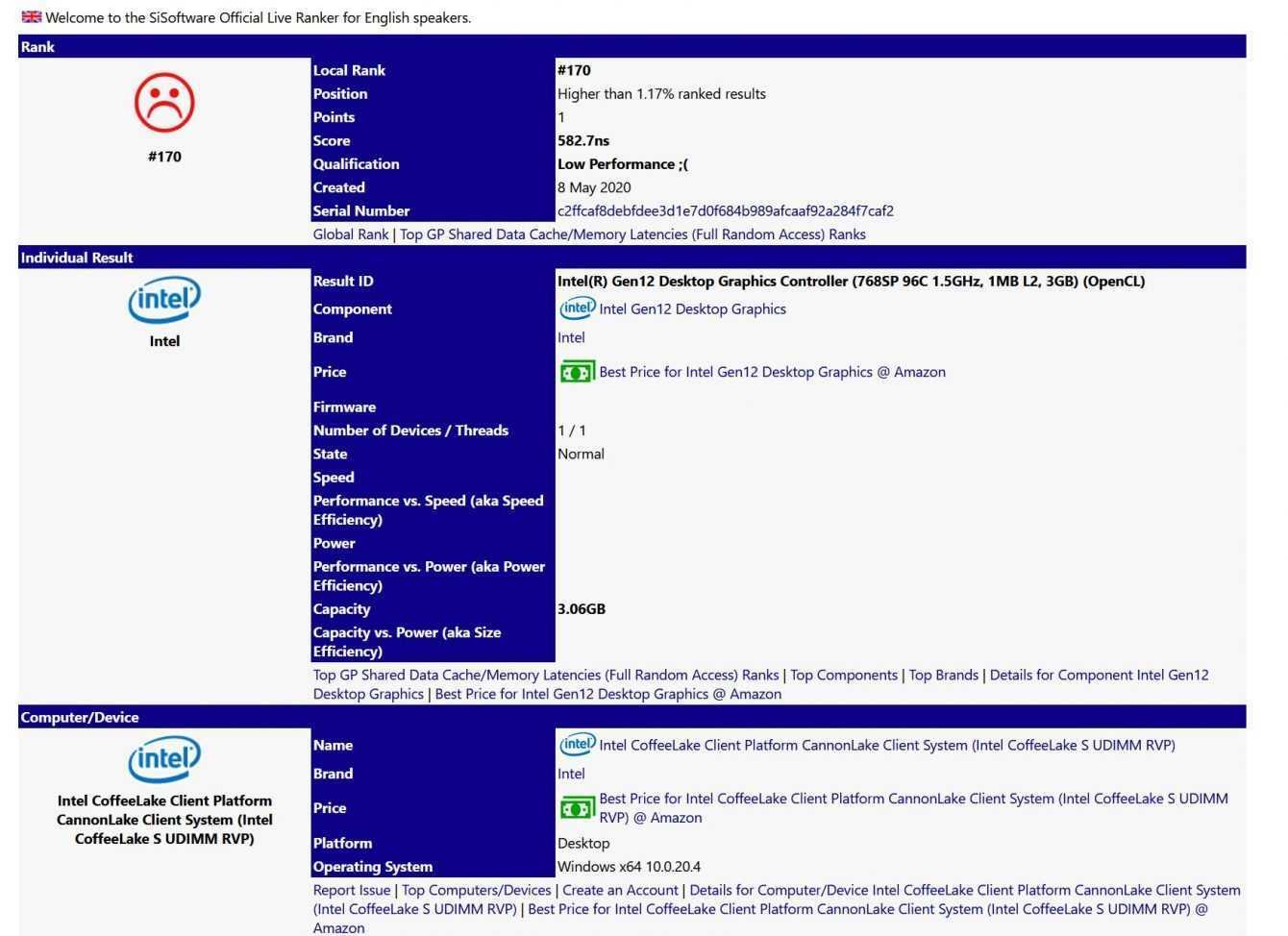 Intel Xe DG1: scheda video con 768 core e 3 GB di RAM?