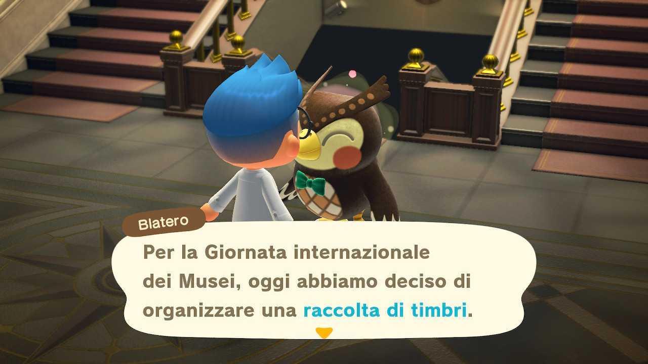 Animal Crossing: New Horizons, guida Raccolta Timbri Museo