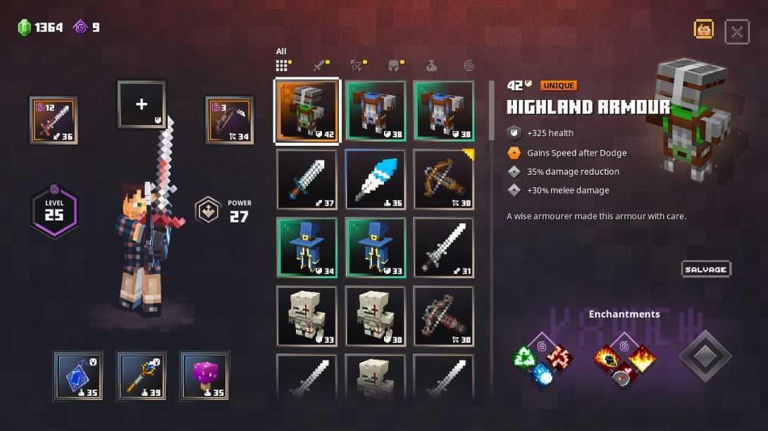 Minecraft Dungeons: guida alle migliori armature