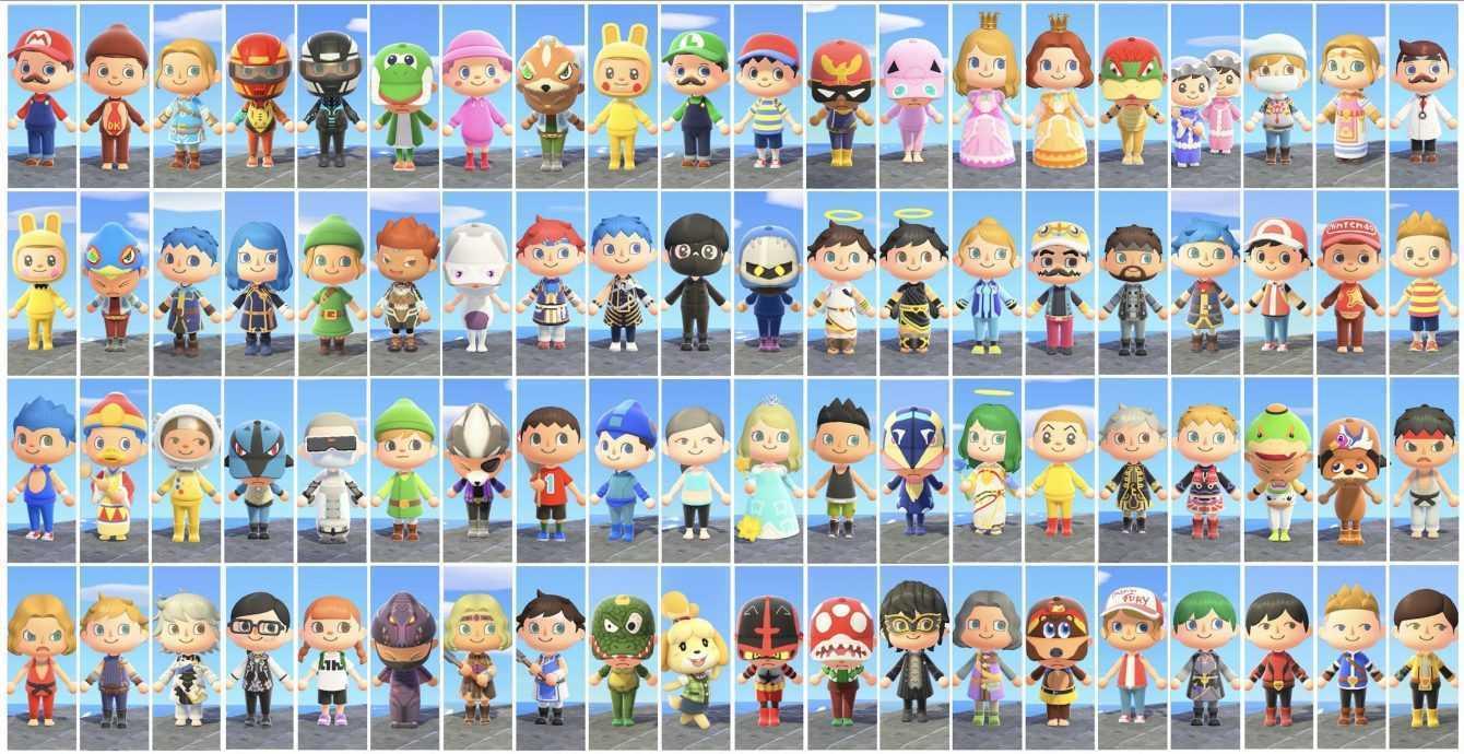 Super Smash Bros Ultimate: l'intero roster in Animal Crossing