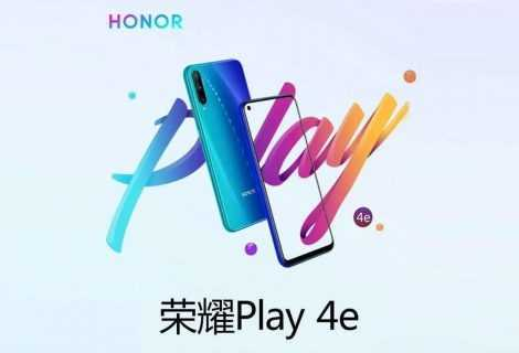 Honor Play 4e: le specifiche del nuovo smartphone lowcost