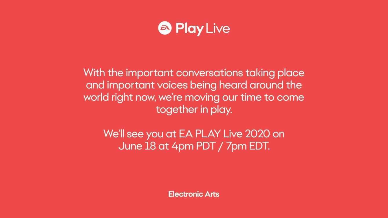 L'evento EA Play Live 2020 è stato rinviato ecco la data
