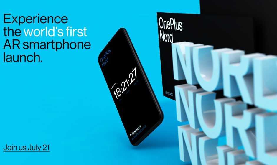 Presentazione OnePlus Nord: il 21 luglio il primo lancio in realtà aumentata