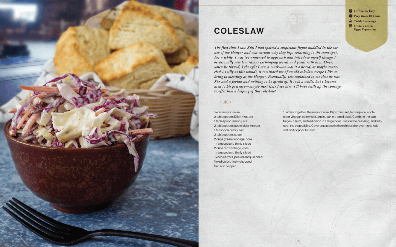 Destiny: The official Cookbook è finalmente disponibile