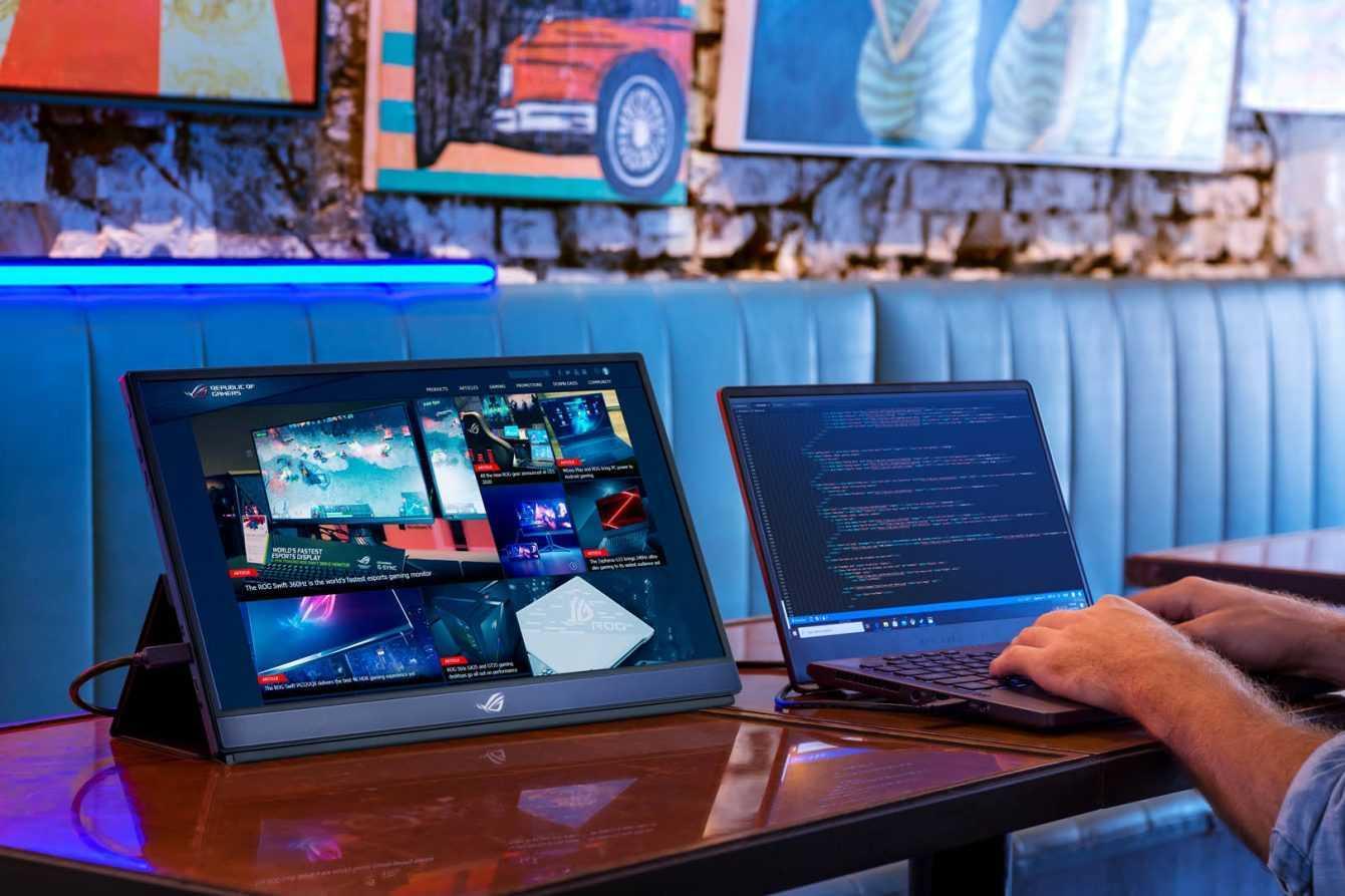 ASUS Republic of Gamers annuncia il monitor portatile ROG più veloce al mondo