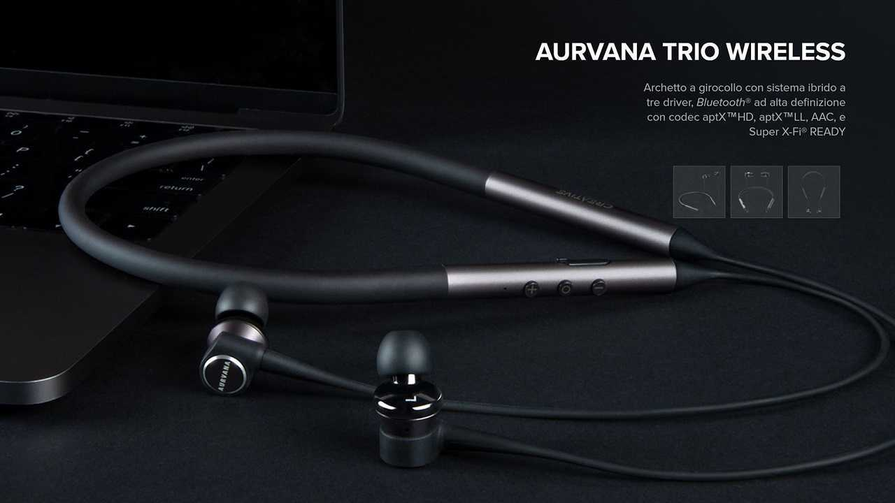 Creative annuncia le nuove cuffie Aurvana Trio Wireless