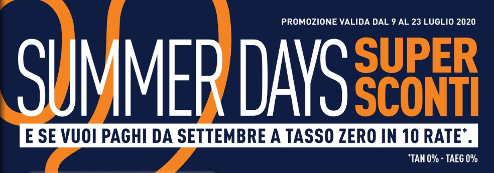 Volantino Unieuro: offerte e sconti con i Summer Days
