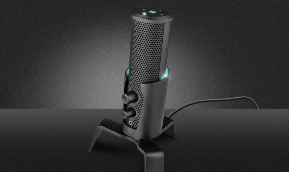 Trust: ecco il nuovo microfono top di gamma GXT 258 Fyru 4-in-1