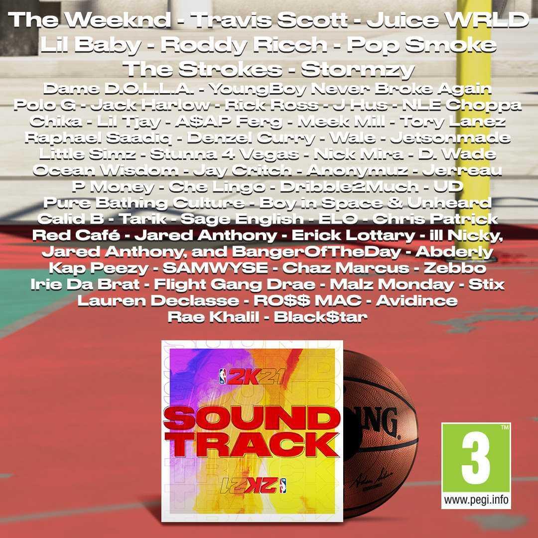 NBA 2K21: annunciata la soundtrack che si evolverà nel tempo