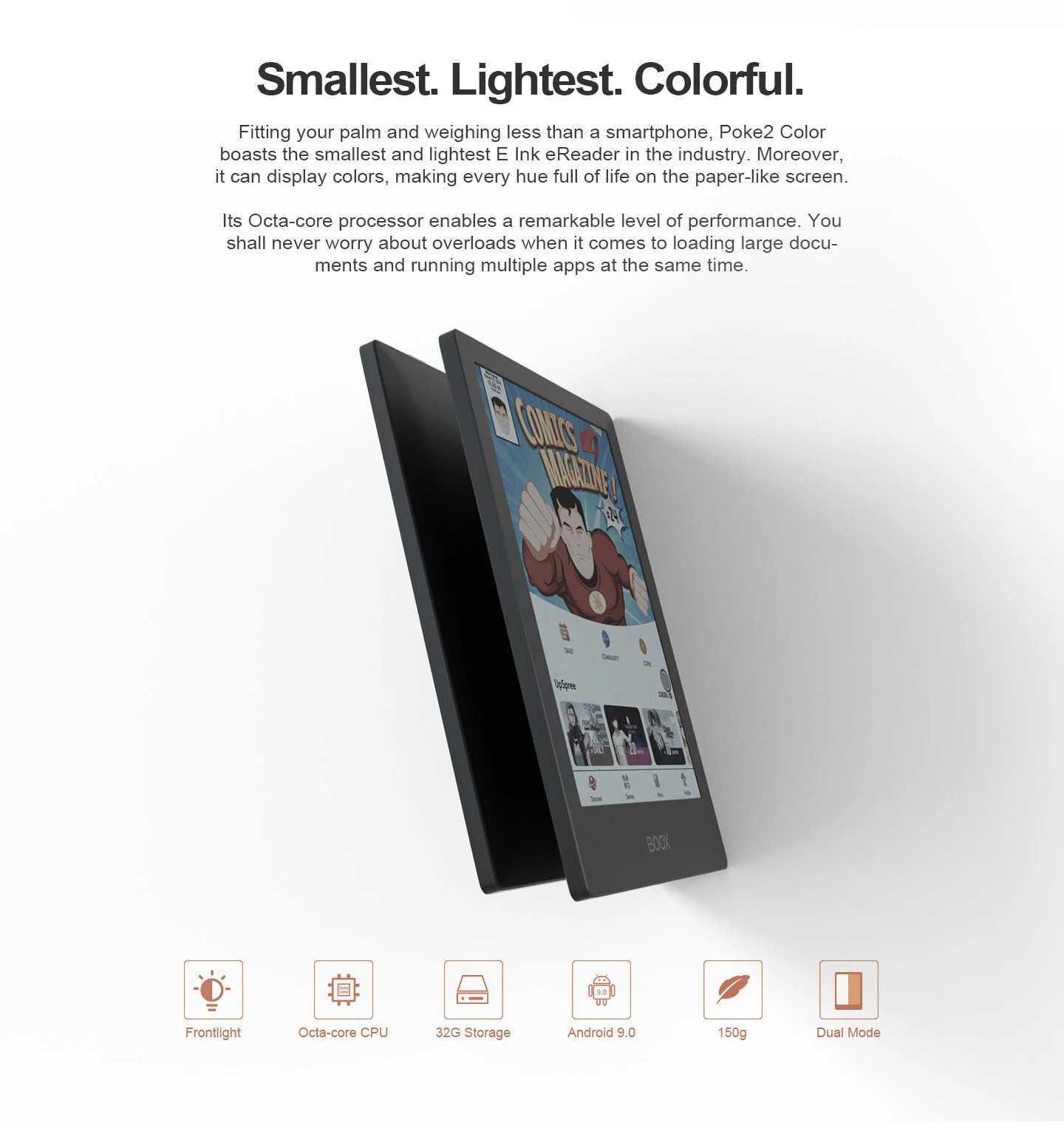 Onyx Boox Poke 2 Color: il primo eBook Reader a colori