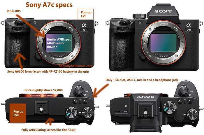 Sony A7c: la nuova mirrorless non sarà Sony A5