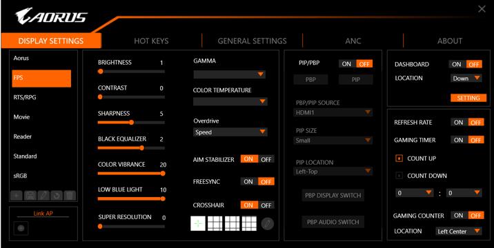 Gigabyte Aorus FI25F: monitor con tempo di risposta di soli 0,4ms