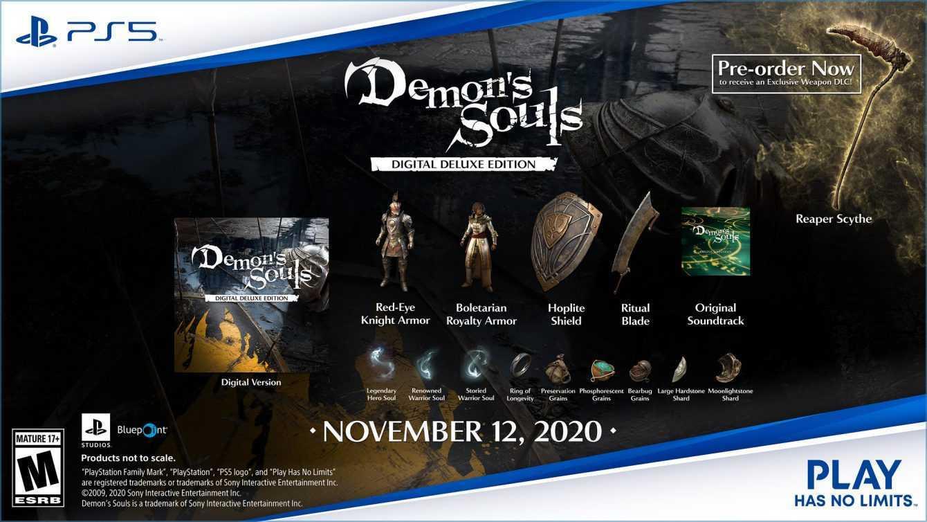 Demon's Souls Remake: ecco i DLC della Digital Deluxe Edition