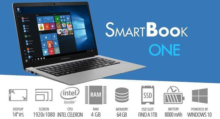 Mediacom: arriva SmartBook One il nuovo leggero e sottile laptop