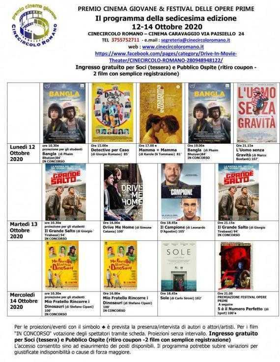 Premio Cinema Giovane & Festival delle Opere Prime: la sedicesima edizione