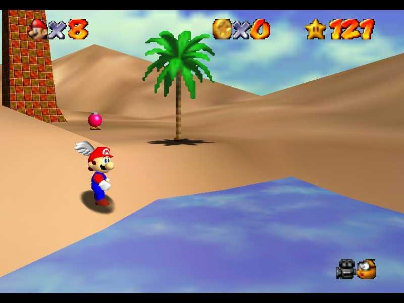 Super Mario 64: dove trovare le Stelle nel Deserto Ingoiatutto