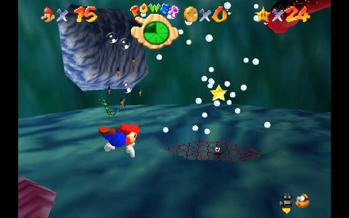 Super Mario 64: dove trovare tutte le stelle nella Baia Pirata