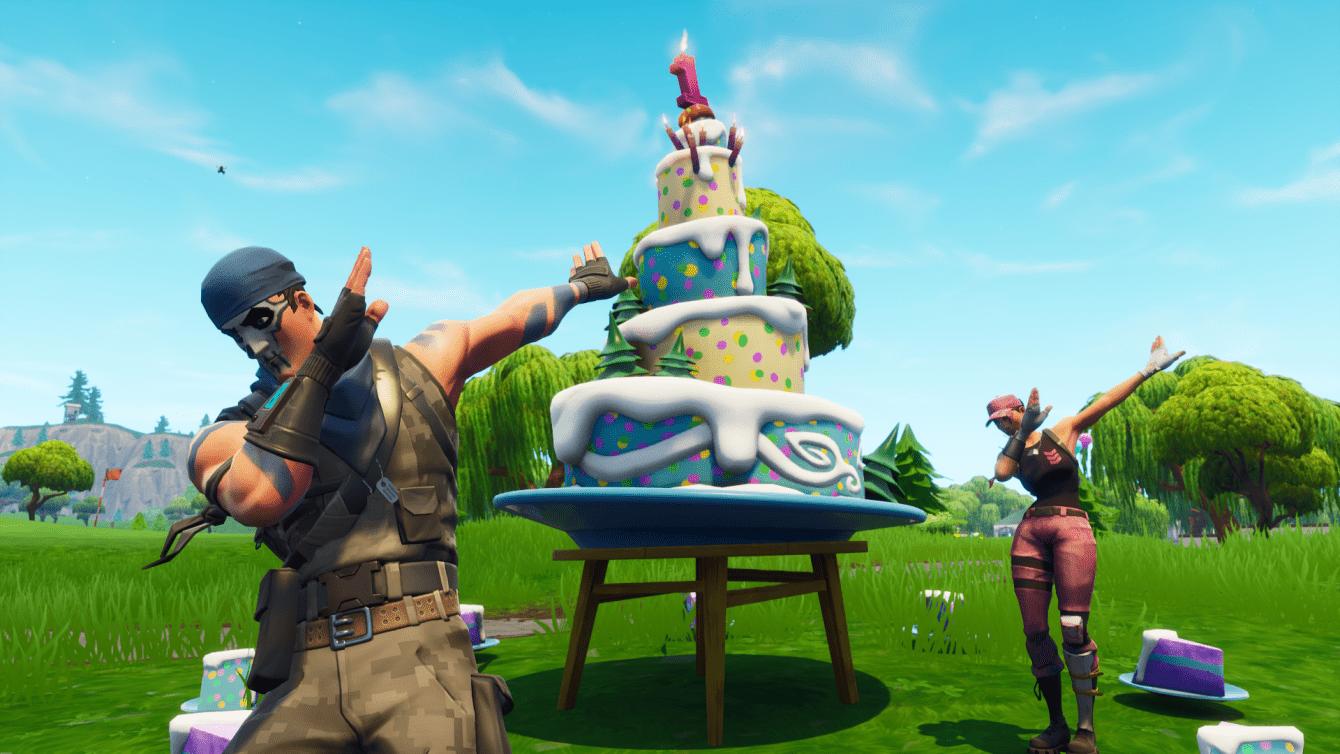 Fortnite: ecco dove sono tutte le torte di compleanno