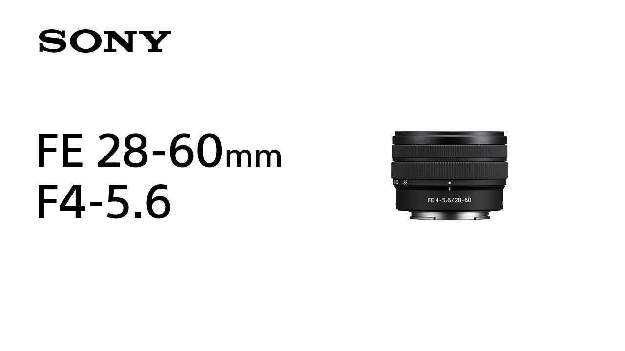 Sony FE 28-60 mm F4-5.6: l'ottica compatta per  Sony A7C
