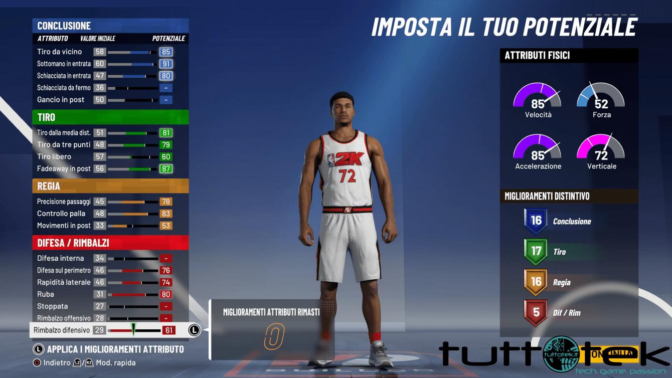 NBA 2K21: come migliorare le statistiche del giocatore