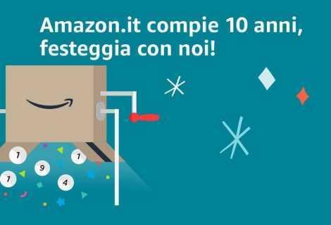 Amazon compie 10 anni e lancia un concorso fino a 10.000 euro