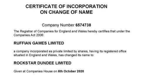 Rockstar Games: assorbiti Ruffian Games, ora Rockstar Dundee