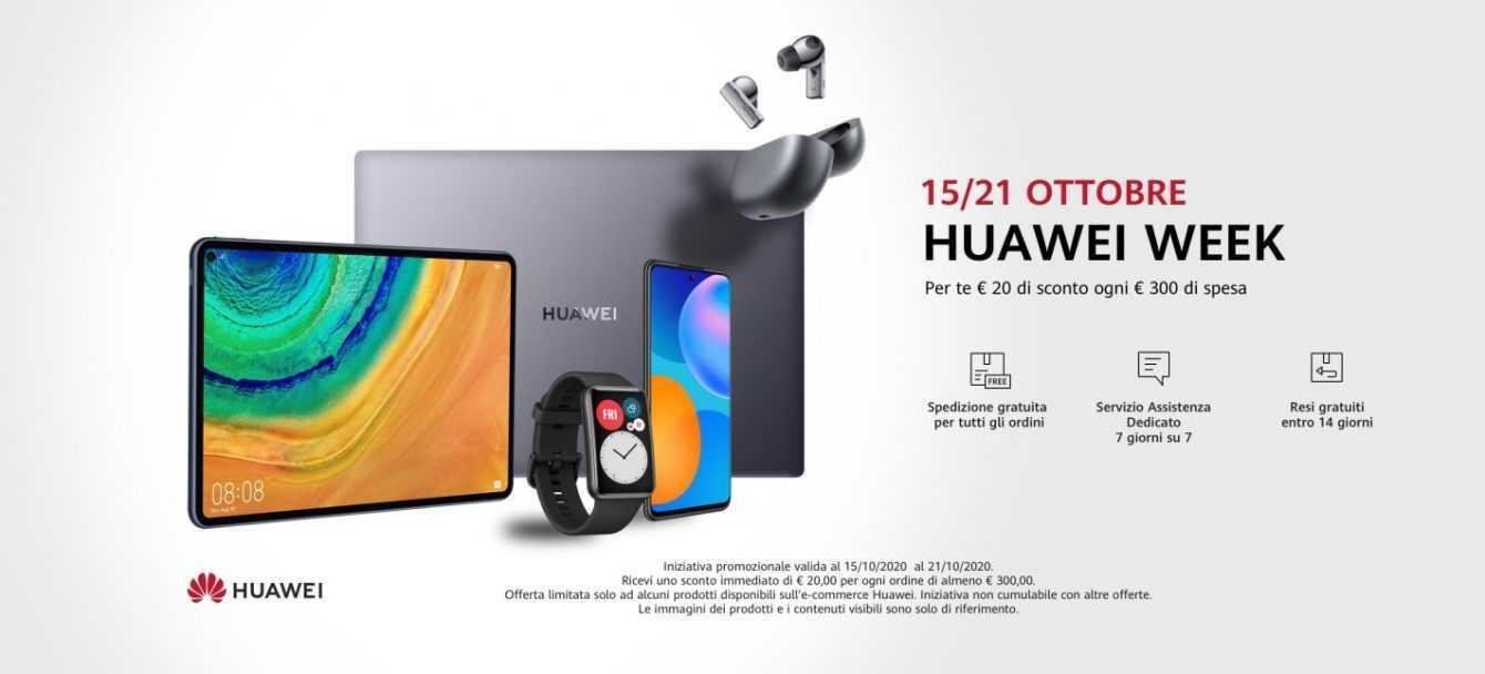 Parte la Huawei Week: una settimana di offerte pazzesche!
