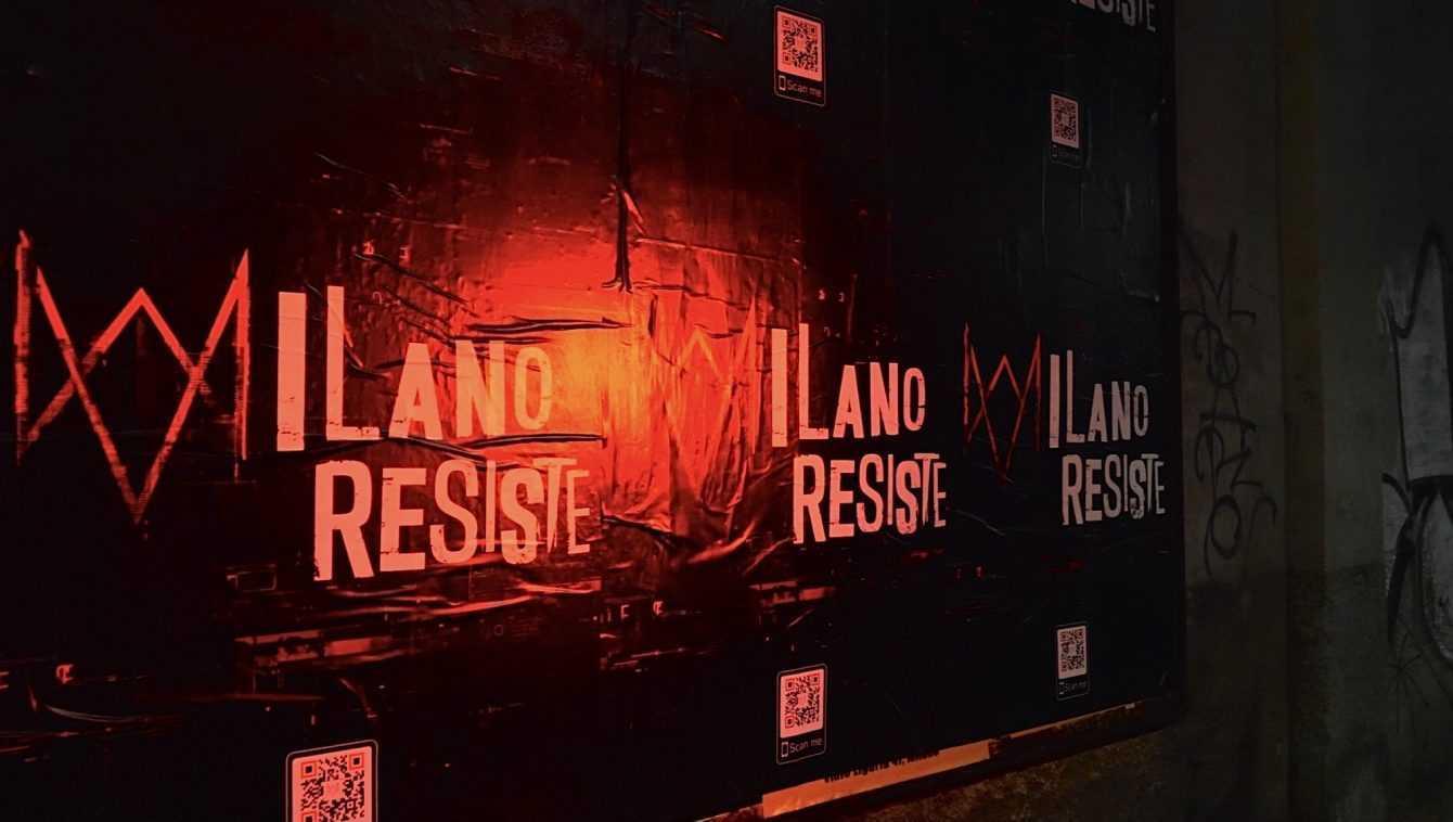 Watch Dogs Legion: uno strano messagio è stato affisso a Milano