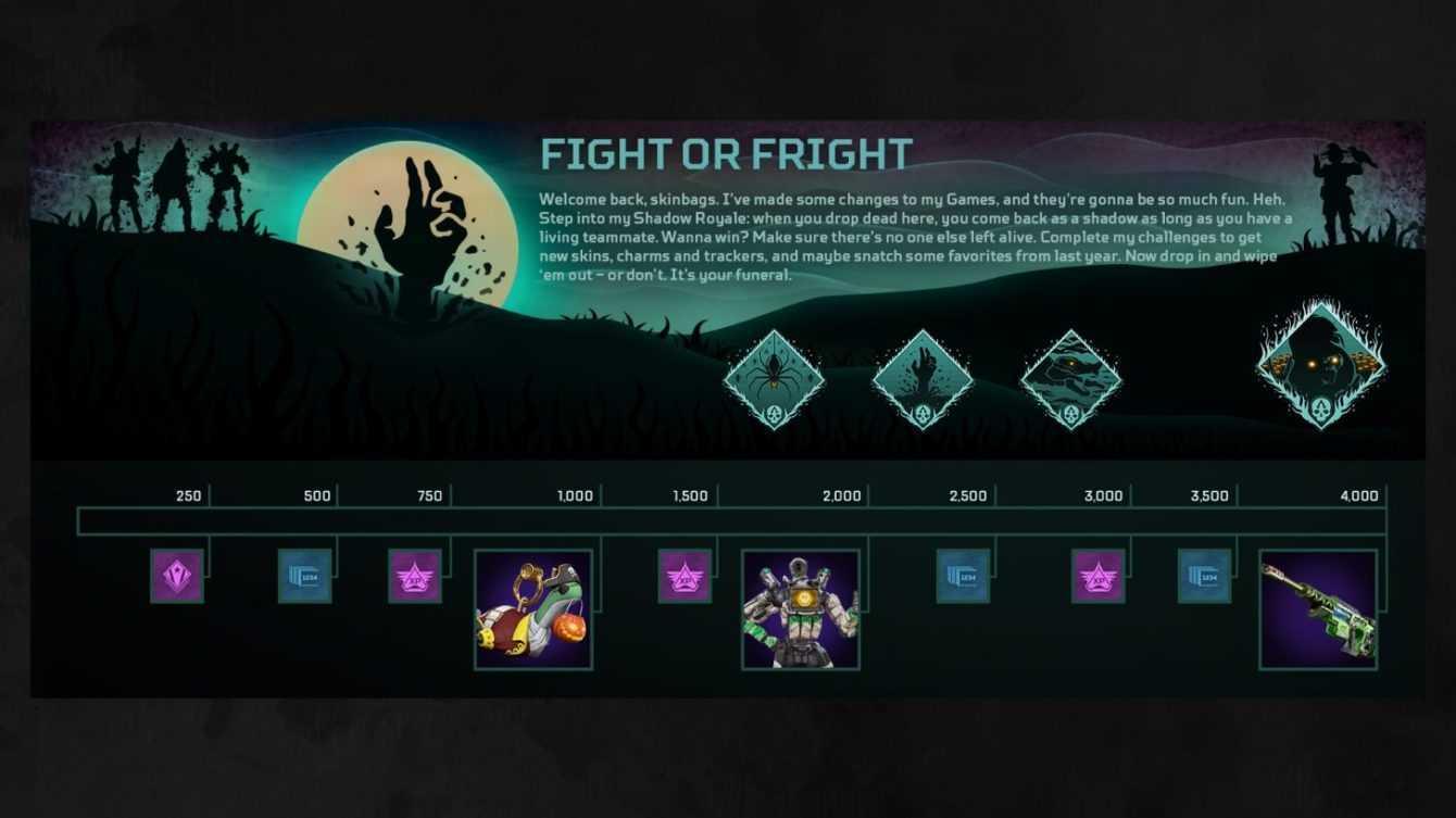 Apex Legends: torna l'evento Paura del buio con un percorso a premi