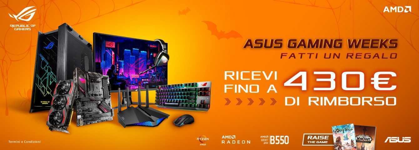 ASUS: rimborsi fino a 430 euro sugli acquisti per le Gaming Weeks