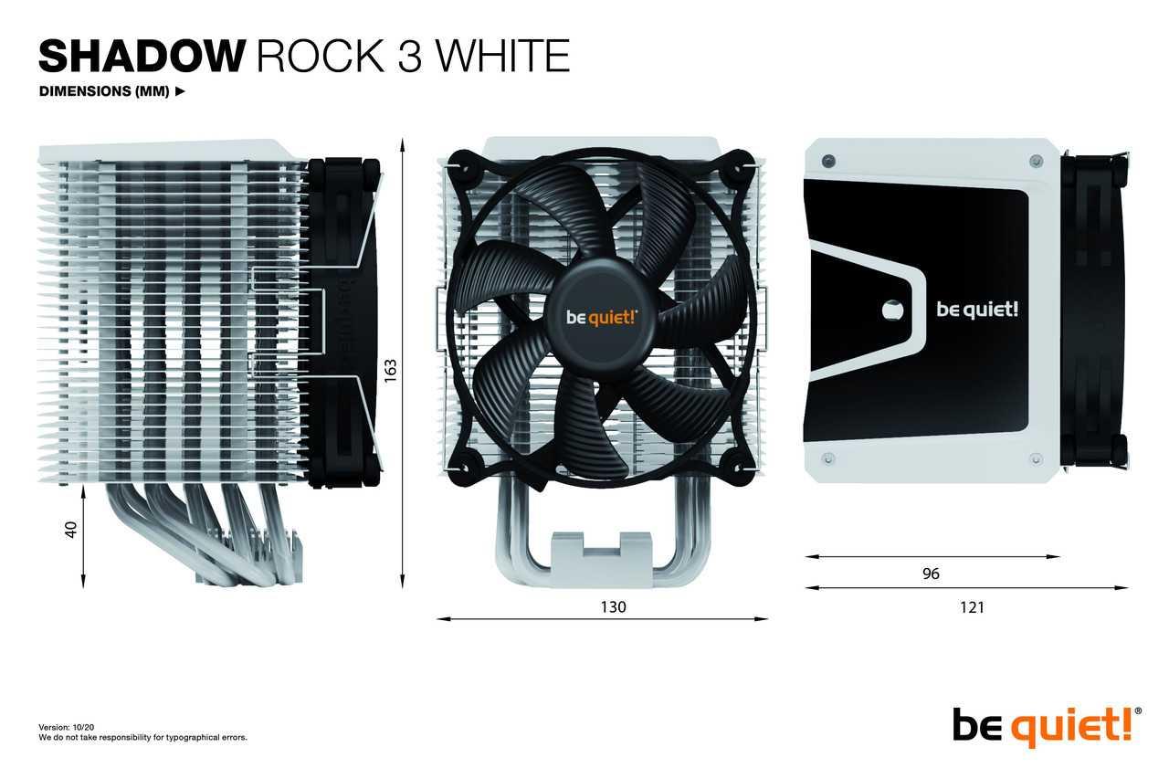 Shadow Rock 3 White: Be quiet! pensa agli amanti del bianco