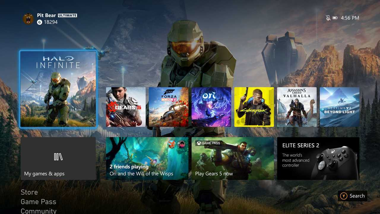 Xbox: l'ultimo aggiornamento ci mostra come sarà l'interfaccia di Series X e S