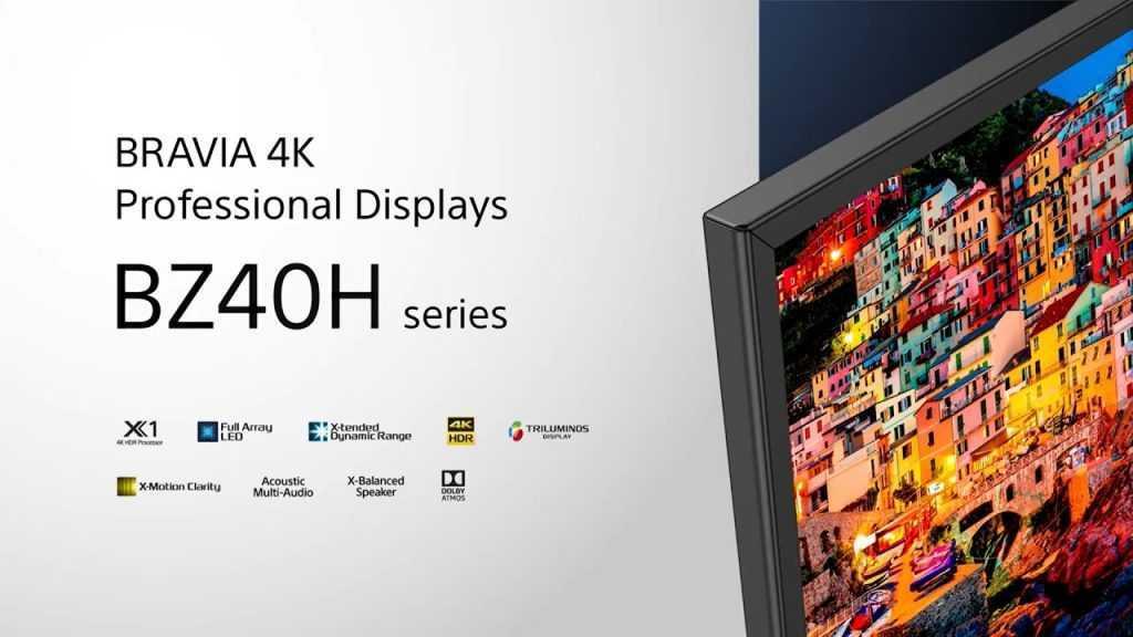 Sony BRAVIA BZ40H: risoluzione 4K Full Array in 85 pollici