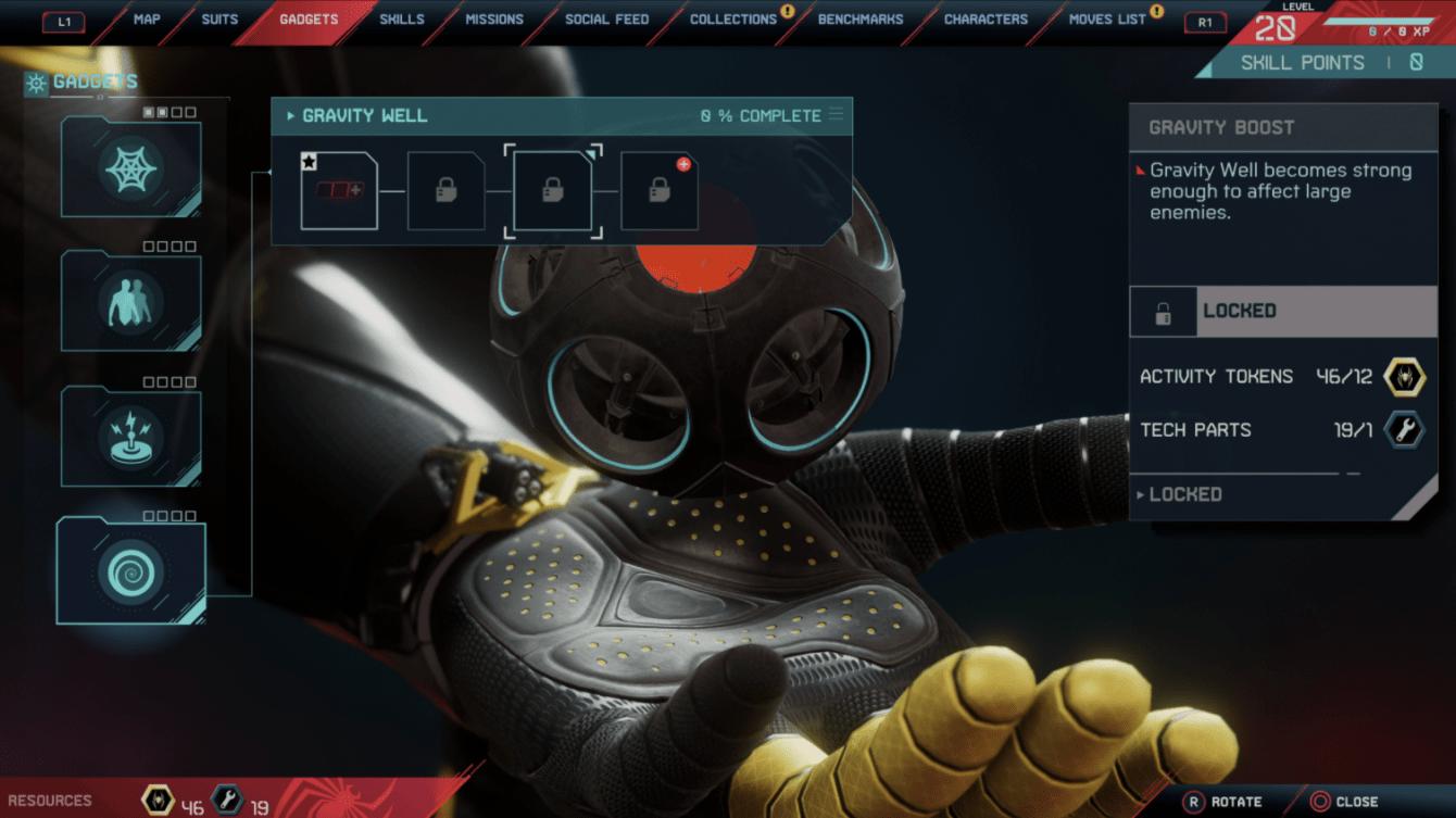 Spider-Man: Miles Morales, tutti i gadget e gli aggiornamenti