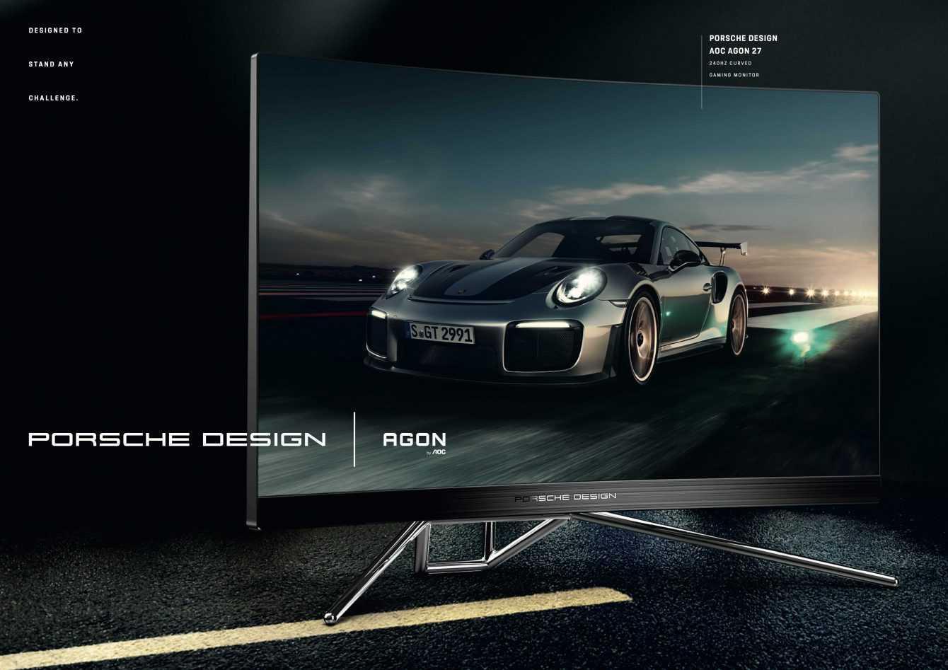 Porsche collabora con AOC: nasce AOC AGON PD27