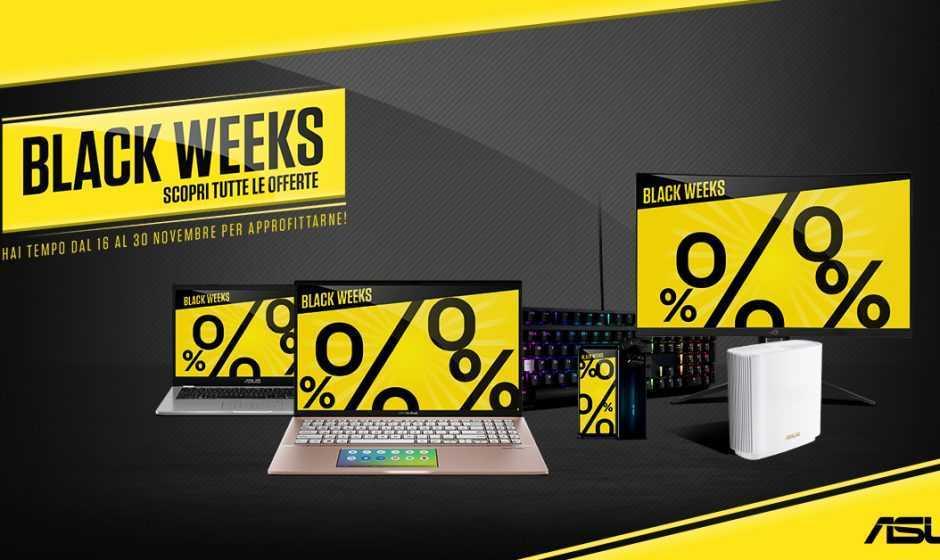 Black Weeks: sconti fino al 30 novembre per ASUS