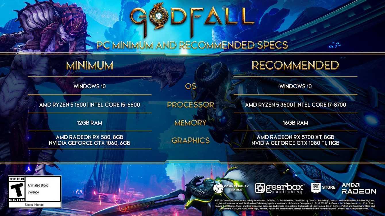 Godfall: ecco i requisiti minimi e consigliati per la versione PC